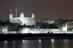 Tower of London at Night. A landscape view of The Tower of London at night Royalty Free Stock Photos