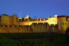 The Tower of London at night Royalty Free Stock Photography