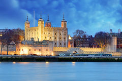 Tower of London at night, UK Stock Photos