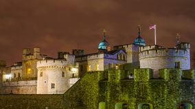 Tower of London at night Royalty Free Stock Photography