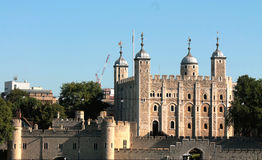 Tower of London. Once used as a prison, is now a popular tourist destination which houses the crown jewels Stock Image