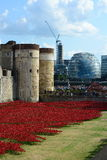 Tower of London Poppies Royalty Free Stock Images