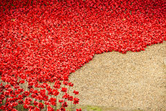 Tower of London Poppy display WW1 Royalty Free Stock Photography