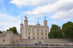 Tower of London from river Thames Stock Photo