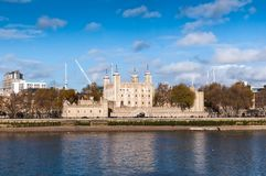 Tower of London and river Thames Stock Images