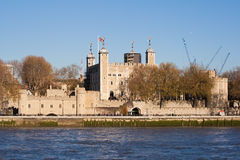 The Tower of London seen across the river Thames Stock Image