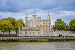 The Tower of London, seen from the River Thames, UK Stock Photography