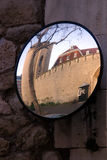 Tower of London seen through a skewed mirror Royalty Free Stock Photography