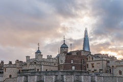 Tower of London with The Shard skyscraper in the background Stock Image