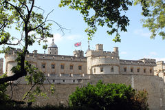 Tower of London. Sight from small park in front of Tower of London Royalty Free Stock Photography