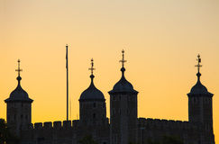 Tower of London Silhouette Stock Images