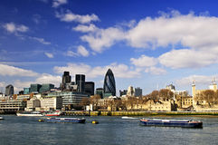 Tower of London skyline. View from Thames river stock photography
