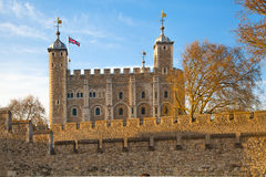 Tower of London (started 1078) Royalty Free Stock Images