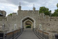 Tower of London. The Tower of London on a summer afternoon stock image