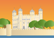 Tower of London at sundown Royalty Free Stock Photo