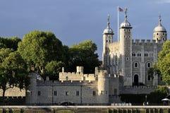 Tower of London at sundown stock photos