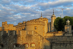 Tower of london. At sunset, england, united kingdom Stock Photo