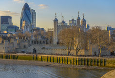 Tower of London at sunset Royalty Free Stock Photography