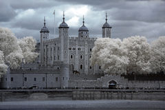 Tower of London on the Thames. River, UK stock photography