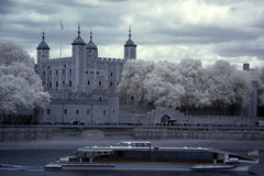 Tower of London on the Thames Royalty Free Stock Images