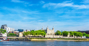 Tower of London on the Thames river Stock Images