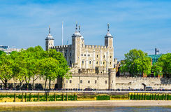Tower of London on the Thames river Stock Photography
