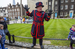 Tower of London Tour by a Yeomen Warder stock photo