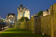 Tower of London and Tower Bridge. Stock Photos