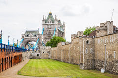 Tower of London and Tower Bridge. London, England stock image
