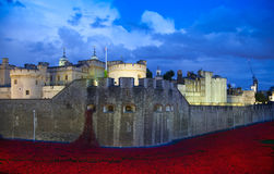 Tower of London in twilight. London Royalty Free Stock Photos