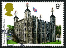 Tower of London UK Postage Stamp Royalty Free Stock Photos