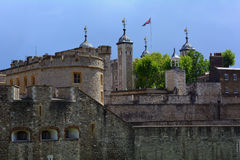 Tower of London with the Union Jack British flag, London United Kingdom Royalty Free Stock Images