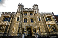 Tower of london view from the inside royalty free stock photography