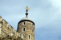 Tower of london with weathercock Royalty Free Stock Photo