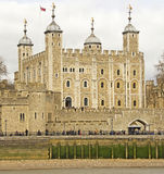 Tower of London. The world famous Tower of London, England. Originally built by Duke William after he became William the Conqueror after the Battle of Hastings Royalty Free Stock Images