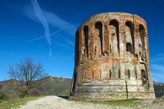 The tower. A lookout tower on the heights of Genova Royalty Free Stock Images