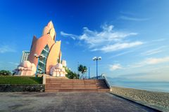 Tower Lotus at morning in Nha Trang Vietnam Stock Photo