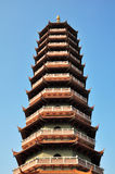 buddhism  temple  pagoda tower. Buddhism  temple  pagoda tower  under blue sky Stock Photography