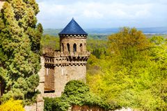 Tower of Lowenburg castle, Bergpark Kassel Germany Royalty Free Stock Photos