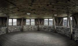 Tower of Lubovna castle, Slovakia. Inside of tower in Lubovna castle, SLovakia royalty free stock images