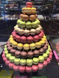 Tower of Macaroons stock photography