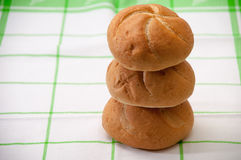 Tower made of buns for sandwiches Stock Image