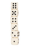 Tower made of dice Royalty Free Stock Image