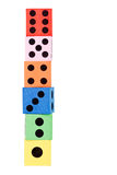 Tower made of dice Royalty Free Stock Images