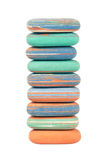 Tower made from erasers Royalty Free Stock Images