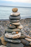 Tower made of pebbles Stock Image