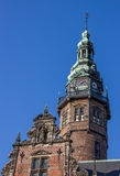 Tower of the main building of the university of Groningen Stock Photo