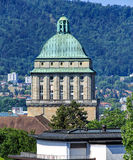 Tower of the main building of the University of Zurich Royalty Free Stock Images