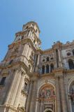 Tower malaga cathedral Stock Photography
