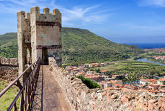 Tower of Malaspina Castle Stock Images